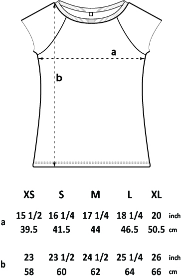 Womens bamboo T shirt size guide